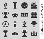 championship icons set. set of... | Shutterstock .eps vector #652097524