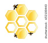 vector poster. honeycomb and... | Shutterstock .eps vector #652100443