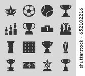 championship icons set. set of... | Shutterstock .eps vector #652102216