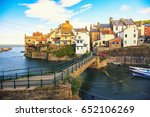 staithes harbour of north... | Shutterstock . vector #652106269