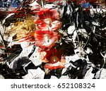 Red And Black Abstract Flowers...