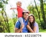 family with daughter  | Shutterstock . vector #652108774