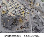 construction site shot from... | Shutterstock . vector #652108903