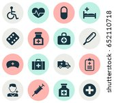 antibiotic icons set.... | Shutterstock .eps vector #652110718