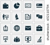business icons set. collection... | Shutterstock .eps vector #652110754