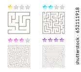 vector illustration of set of 4 ... | Shutterstock .eps vector #652111918