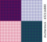 small plaid patterns | Shutterstock .eps vector #652116880