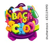 back to school vector isolated... | Shutterstock .eps vector #652119490