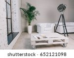 set for painting lies on a... | Shutterstock . vector #652121098