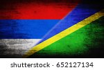 flags of serbia and solomon... | Shutterstock . vector #652127134