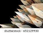 sharp wooden poles   building... | Shutterstock . vector #652129930