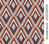 geometry zig zag vector pattern.... | Shutterstock .eps vector #652133953