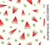 vector illustration. slices of... | Shutterstock .eps vector #652140844
