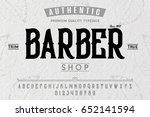 font. alphabet. script.... | Shutterstock .eps vector #652141594