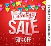valentines sale vector design... | Shutterstock .eps vector #652148368