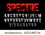 bold style font with shadow... | Shutterstock .eps vector #652148716