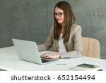 working in office | Shutterstock . vector #652154494