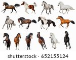 horse collection isolated on... | Shutterstock . vector #652155124