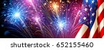 american flag with fireworks on ... | Shutterstock .eps vector #652155460
