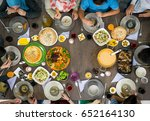 food table  top view | Shutterstock . vector #652164130
