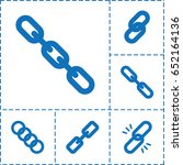 hyperlink icon. set of 6... | Shutterstock .eps vector #652164136
