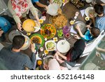 top view of family and friends... | Shutterstock . vector #652164148
