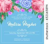 bridal shower invitation... | Shutterstock .eps vector #652165894