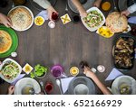 copy space of top view food... | Shutterstock . vector #652166929