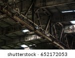 part of old abandoned rusty... | Shutterstock . vector #652172053