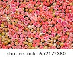 Stock photo rose flower wall 652172380