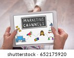 marketing channels concept... | Shutterstock . vector #652175920
