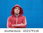 Angry Man In Red Coat With...