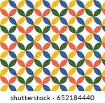 flower pattern vector ... | Shutterstock .eps vector #652184440