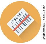 barcode vector icon | Shutterstock .eps vector #652185454
