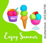 enjoy summer sign with hand... | Shutterstock .eps vector #652186750