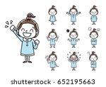 girls  set  variations | Shutterstock .eps vector #652195663