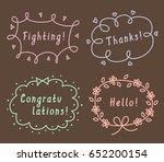 set of cute hand drawn frames... | Shutterstock .eps vector #652200154
