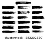 painted grunge stripes set.... | Shutterstock .eps vector #652202830