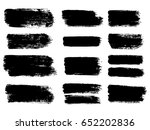 painted grunge stripes set.... | Shutterstock .eps vector #652202836