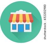 shop vector icon | Shutterstock .eps vector #652202980