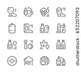 set line icons of beer | Shutterstock .eps vector #652207093