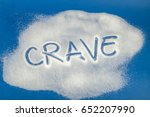 sugar on a blue background with ... | Shutterstock . vector #652207990