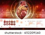 3d anatomy of human heart  | Shutterstock . vector #652209160