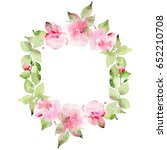 cute watercolor wreath with...   Shutterstock . vector #652210708