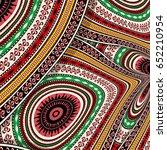 vector abstract decorative... | Shutterstock .eps vector #652210954