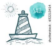 buoy drawing on white... | Shutterstock .eps vector #652213414