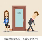 sad business man leaves his... | Shutterstock .eps vector #652214674