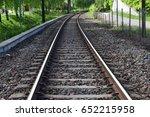 empty train track   Shutterstock . vector #652215958
