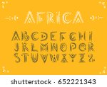 vector handwritten alphabet in... | Shutterstock .eps vector #652221343
