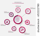 circular asimeric infographics... | Shutterstock .eps vector #652222780